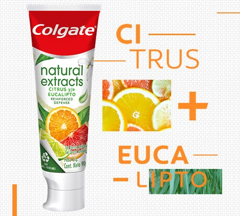 Colgate Natural Extracts Citrus e Eucalipto Reinforced Defense