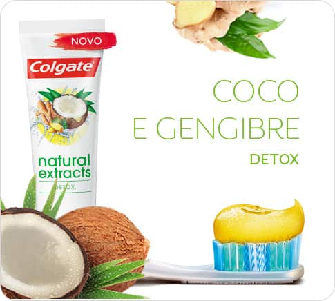 Colgate Natural Extracts Coco e Gengibre Detox