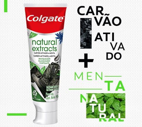 Colgate Natural Extracts Carvão e Menta