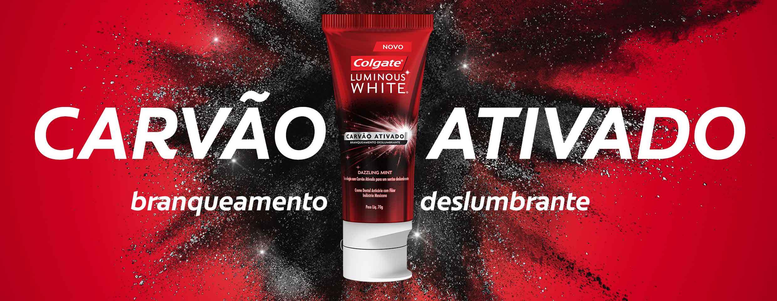 COLGATE® LUMINOUS WHITE CARVÃO ATIVADO
